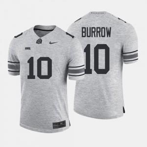 Ohio State Buckeye #10 Men's Joe Burrow Jersey Gray Embroidery Gridiron Limited Gridiron Gray Limited 656578-413