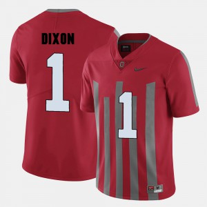 Ohio State #1 For Men Johnnie Dixon Jersey Red University College Football 467408-391