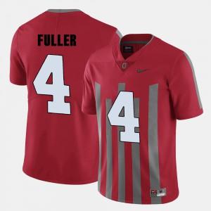 Ohio State Buckeyes #4 For Men's Jordan Fuller Jersey Red College College Football 412782-820