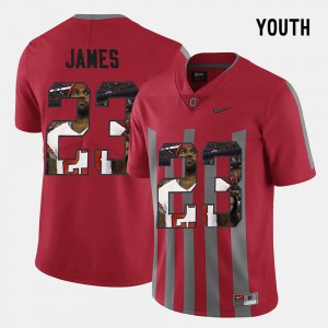 Ohio State Buckeye #23 Youth Lebron James Jersey Red University Pictorial Fashion 918628-523