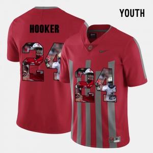 Buckeye #24 For Kids Malik Hooker Jersey Red Pictorial Fashion Embroidery 763498-165