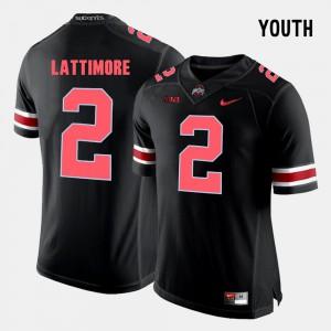 OSU Buckeyes #2 Kids Marshon Lattimore Jersey Black High School College Football 747030-845
