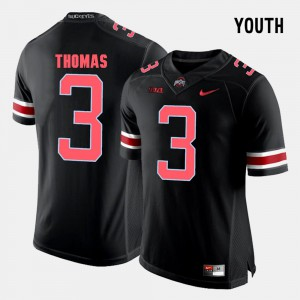 Buckeyes #3 Youth Michael Thomas Jersey Black College College Football 311505-885