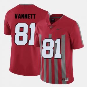 OSU #81 For Men's Nick Vannett Jersey Red College Football NCAA 122459-158