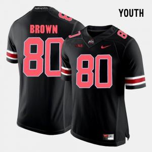 Ohio State Buckeyes #80 Kids Noah Brown Jersey Black University College Football 240258-845