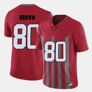 Buckeyes #80 Men Noah Brown Jersey Red Alumni College Football 346677-787