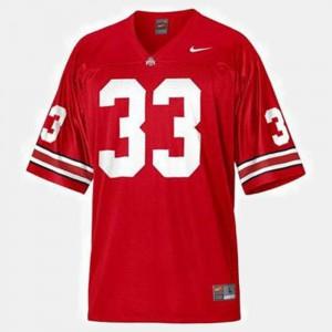 OSU Buckeyes #33 Youth(Kids) Pete Johnson Jersey Red Stitched College Football 978225-493
