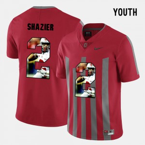 Ohio State Buckeye #2 Youth(Kids) Ryan Shazier Jersey Red Embroidery Pictorial Fashion 447374-167