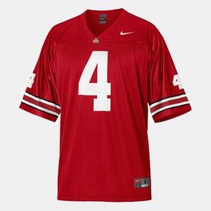 Buckeyes #4 Mens Santonio Holmes Jersey Red NCAA College Football 933348-485