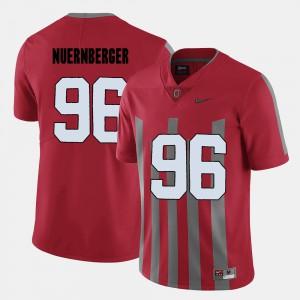 Ohio State Buckeyes #96 Men's Sean Nuernberger Jersey Red NCAA College Football 931912-350