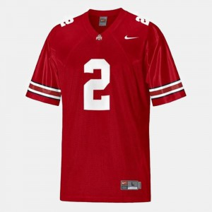 Buckeyes #2 For Men's Terrelle Pryor Jersey Red College Football Official 140793-216