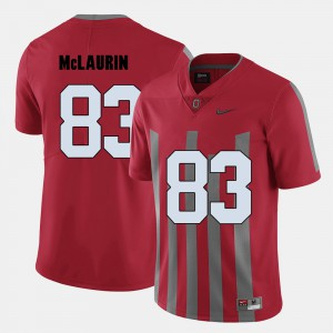 OSU Buckeyes #83 Men Terry McLaurin Jersey Red Embroidery College Football 688866-406