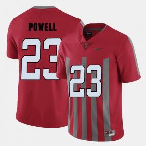 Buckeye #23 For Men's Tyvis Powell Jersey Red High School College Football 584344-315