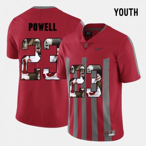 OSU #23 For Kids Tyvis Powell Jersey Red NCAA Pictorial Fashion 310267-549