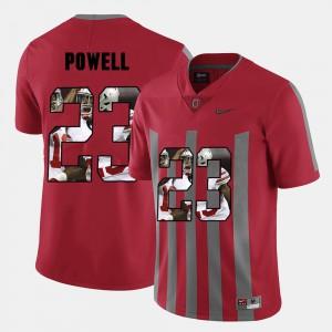 Buckeye #23 For Men's Tyvis Powell Jersey Red Pictorial Fashion Alumni 641951-932