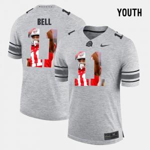 OSU #11 Kids Vonn Bell Jersey Gray Pictorial Gridiron Fashion Pictorital Gridiron Fashion Player 144008-789