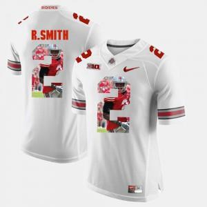 Ohio State #2 Men Rod Smith Jersey White University Pictorial Fashion 317533-425