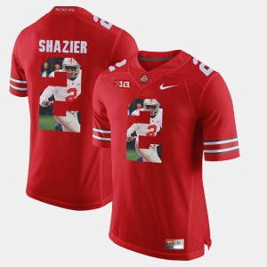Buckeyes #2 For Men Ryan Shazier Jersey Scarlet Embroidery Pictorial Fashion 244279-512