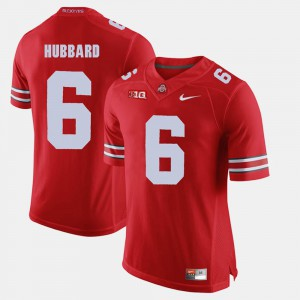 Buckeyes #6 Men's Sam Hubbard Jersey Scarlet Player Alumni Football Game 743469-309
