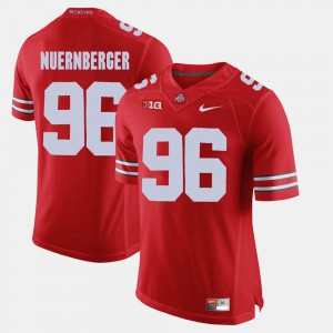 Ohio State #96 Men's Sean Nuernberger Jersey Scarlet Player Alumni Football Game 159114-729