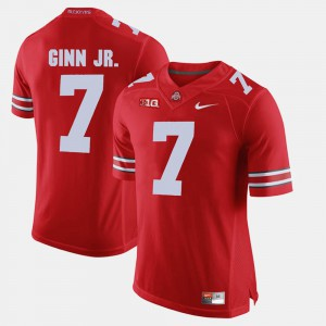 Ohio State Buckeye #7 Mens Ted Ginn Jr. Jersey Scarlet University Alumni Football Game 947076-926