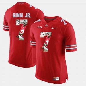 Ohio State Buckeye #7 For Men Ted Ginn Jr. Jersey Scarlet Pictorial Fashion Alumni 431339-395