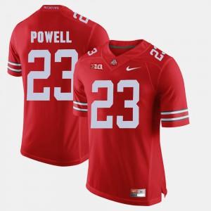 OSU Buckeyes #23 Mens Tyvis Powell Jersey Scarlet College Alumni Football Game 688940-476