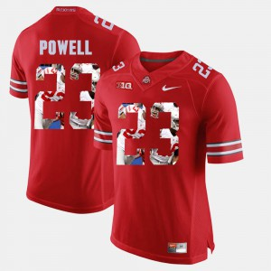Ohio State #23 Men's Tyvis Powell Jersey Scarlet Pictorial Fashion High School 421128-588