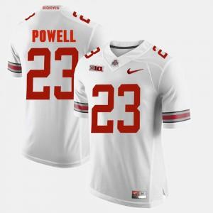 Buckeyes #23 Men's Tyvis Powell Jersey White Stitch Alumni Football Game 420214-695