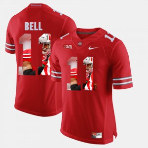 Ohio State Buckeye #11 Mens Vonn Bell Jersey Scarlet Embroidery Pictorial Fashion 464686-522