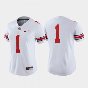 Buckeyes #1 Women Jersey White College Football Game Player 557392-311