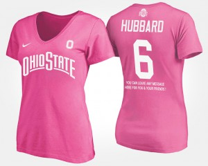 OSU #6 Ladies Sam Hubbard T-Shirt Pink With Message Stitched 474063-741