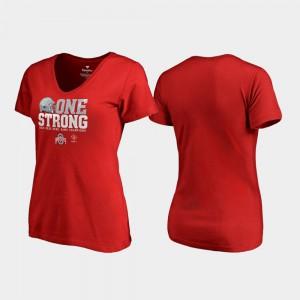 Ohio State Buckeyes Womens T-Shirt Scarlet Alumni 2019 Rose Bowl Champions Endaround V-Neck 482331-943