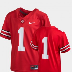 Ohio State #1 Youth Jersey Scarlet Alumni Team Replica College Football 908174-567