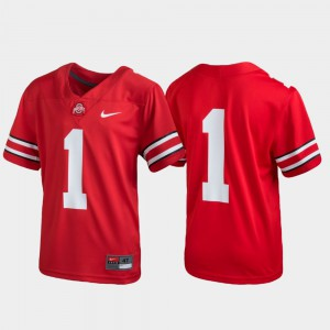 OSU #1 Youth Jersey Scarlet Player Football Untouchable 628929-936