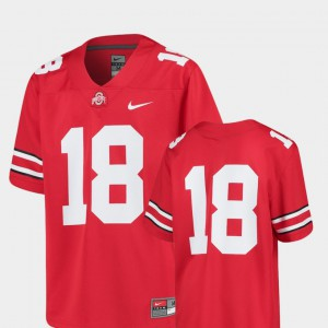 OSU #18 Youth Jersey Scarlet Embroidery College Football Replica 430829-362