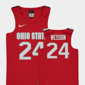 OSU #24 For Kids Andre Wesson Jersey Red College Replica College Basketball 916642-869