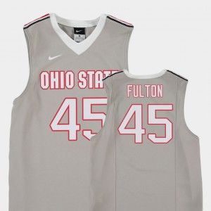 Ohio State #45 Youth Connor Fulton Jersey Gray Embroidery College Basketball Replica 753260-559