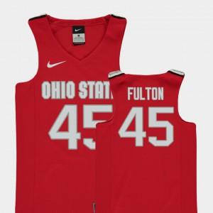 Ohio State #45 Youth Connor Fulton Jersey Red College Basketball Replica Alumni 135383-170
