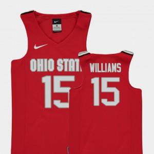 OSU #15 Kids Kam Williams Jersey Red College Basketball Replica University 118441-926
